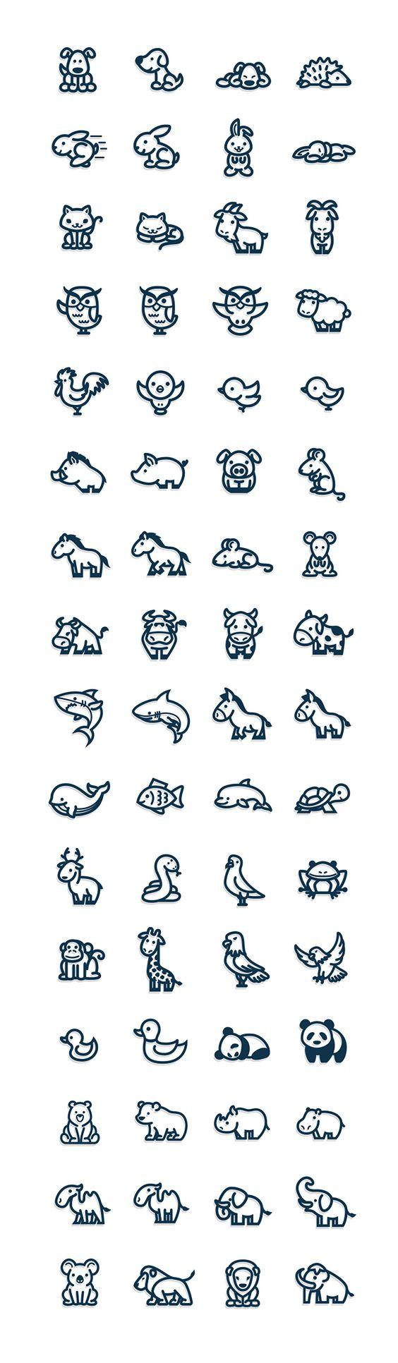 Animal icons on Behance