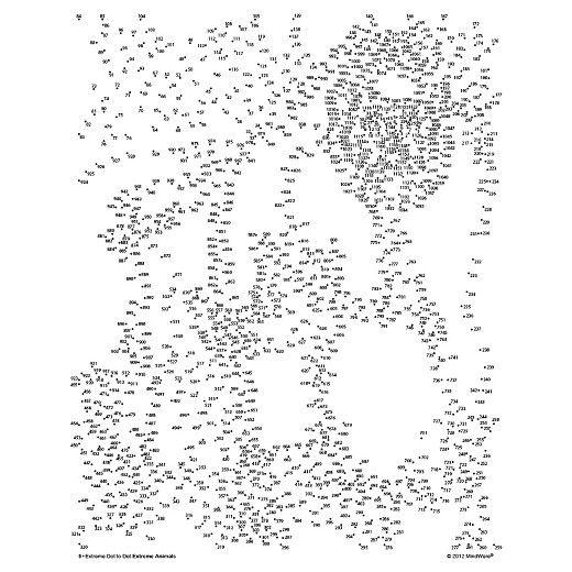 MindWare Extreme Dot to Dot Coloring Pets