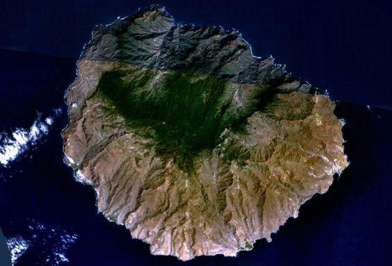 Visione dallo spazio de La Gomera, Canarie