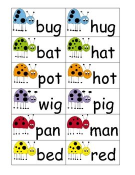 Printables Words That Rhyme For Kindergarten spring bugs rhyming words freebie i heart my kinder kids words