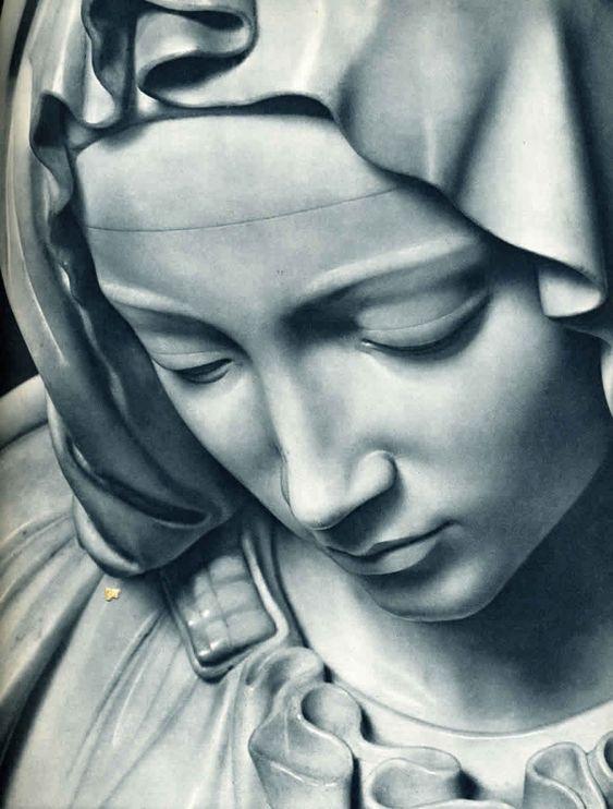 La Pietà - Visage de la Vierge