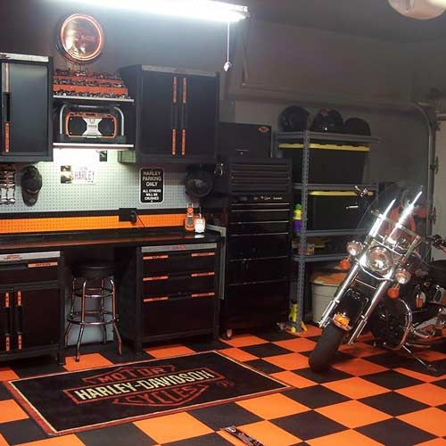 Create A Harley Davidson Themed Garage With Turbo