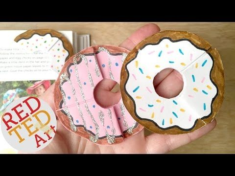 Easy DONUTS BookmarK (Paper Crafts) Red Ted Art on YouTube