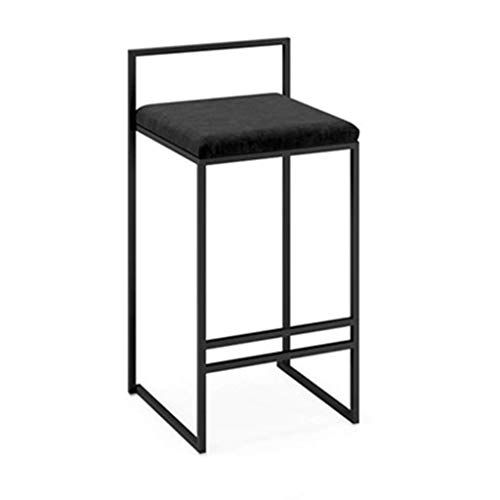 Bar Stool Stylish High Stools Square Suede Cushion Iron Chair Legs Cafe Front Desk Stool Mak Modern Bar Stool Design Kitchen Bar Stools Upholstered Bar Stools