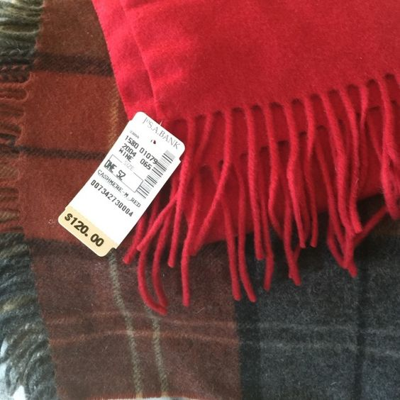 Joseph Bank 100% Cashmere Scarves - orig. $120 Decadent cashmere five feet long, one foot wide. Perfect, unused, with tags. Accessories Scarves & Wraps