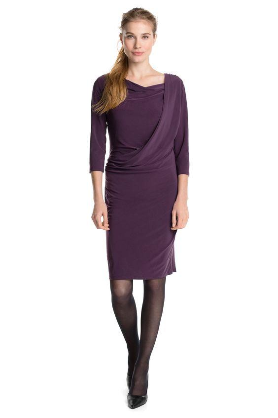 Esprit - Geschmeidiges Glanz-Jersey-Kleid im Online Shop kaufen