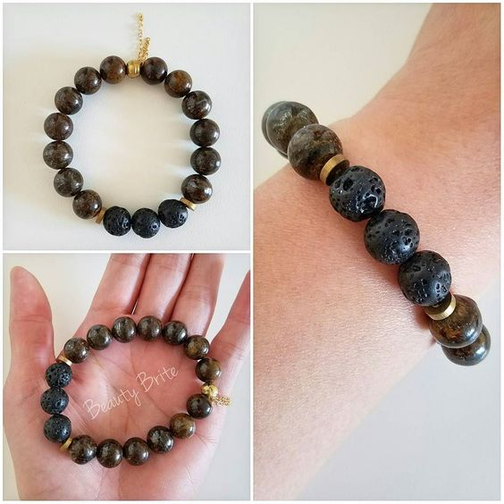 I was immediately drawn to the Bronzite Gemstone Bracelet! #prsample  When life takes an unexpected turn for good or bad I use natural remedies to help cope.  I use essential oils and crystals.  I am excited to add the Bronzite bracelet to my collection!  The bracelet is perfect for those who seek balance courage acceptance and help.  #essentialoildiffuserjewelry #essentialoils #redenjewelry #jewelry #bronzite #gemstonebracelet #bracelet #gemstones#jewelryoftheday
