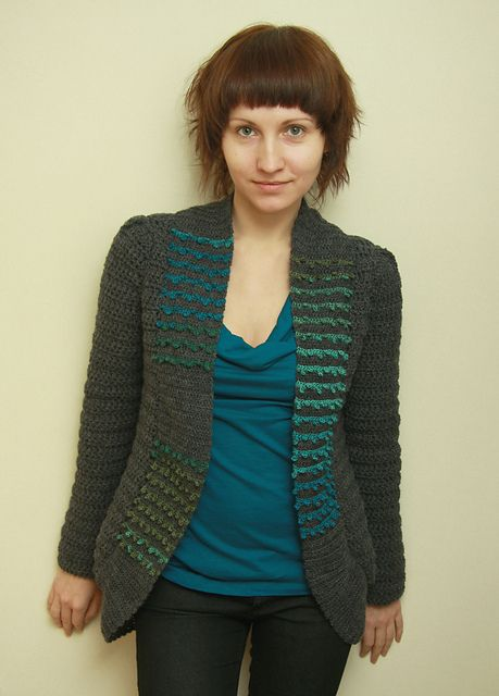 London Cardigan - cute crochet sweater #Ravelry