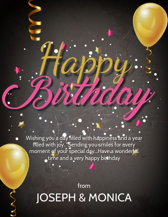 Happy Birthday Wishes Card Design Template Birthday Wishes Happy Birthday Wishes Cards Birthday Wishes Cards