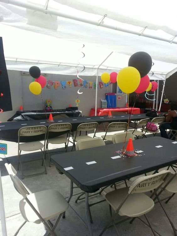 Decorations I did  for Julien's 1st bday cars themed party!!!