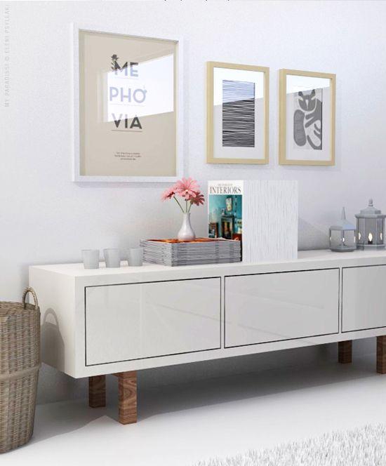 white living room visualization salons enfant et banc tv. Black Bedroom Furniture Sets. Home Design Ideas