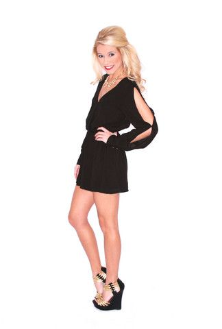 perfect for going out #shopimpressions Step Into The Spotlight Romper in Black | Impressions Online Women's Clothing Boutique