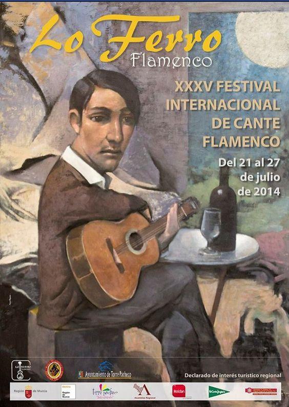 Cartel de espectáculo flamenco y cante.