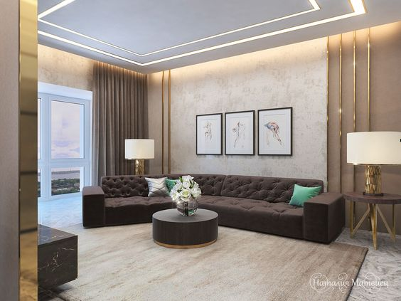 Ceiling Design In Living Room, Shows More Than Enough About How To Decorate  A Room In Sophisticated Look. Living Room Is Special Place In Our Home U2026