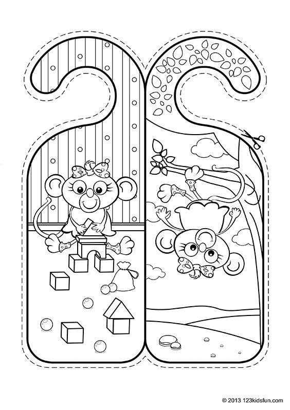 Door Hangers 123 Kids Fun Apps Door Hangers Hanger Crafts To Do