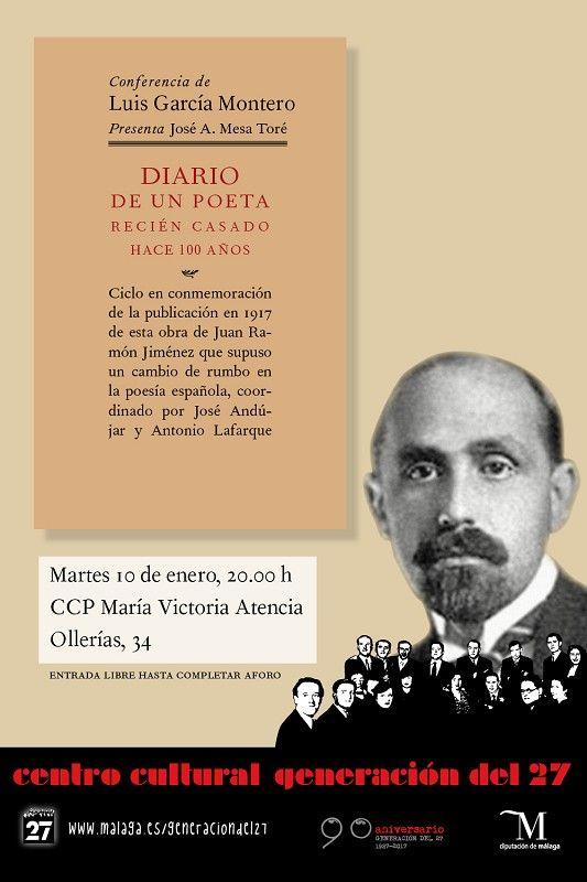 Publicidad Generación del 27. Ciclo de conferencias en conmemoración de la publicación en 1917 de esta obra de Juan Ramón Jiménez que supuso un cambio de rumbo en la poesía.