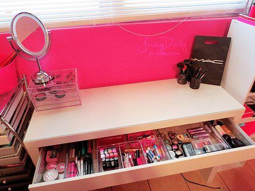 Perfect (4) Makeup Organizer | Tumblr | Beautify | Pinterest | Round Mirrors,  Organizations And Vanities