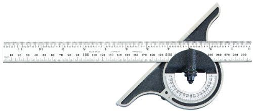 Starrett 12me 300 Non Reversible Bevel Protractor Black Wrinkle Finish 300mm And 11 3 4 Size With Images Protractor Bevel Precision Measuring