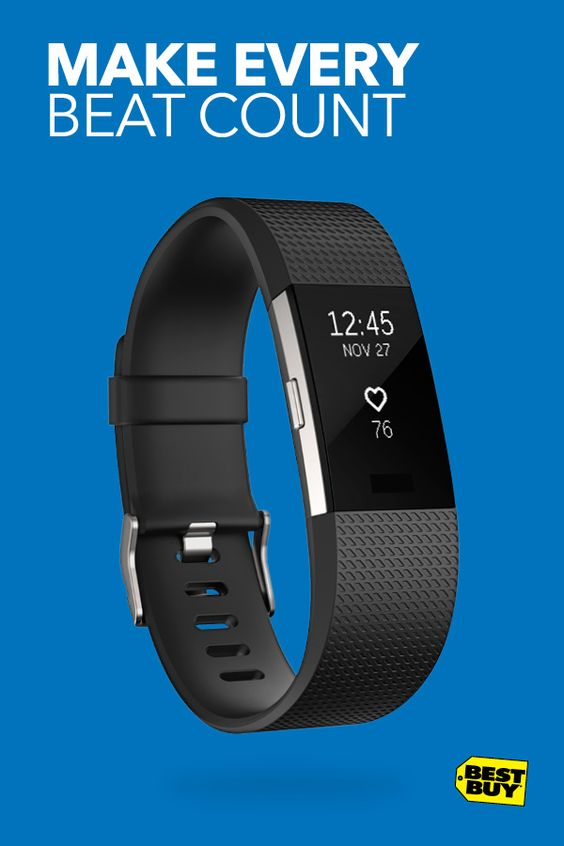 Whether you're out for a run or hustling to a meeting, the Fitbit Charge 2 is along for the ride, tracking your activity every step of the way. The Charge 2 is designed for your active lifestyle, no matter how you move through the day. Get a clearer picture of your overall health with new features like PurePulse continuous heart rate, sleep tracking and personalized breathing exercises. And take it all in on an upgraded, larger display.