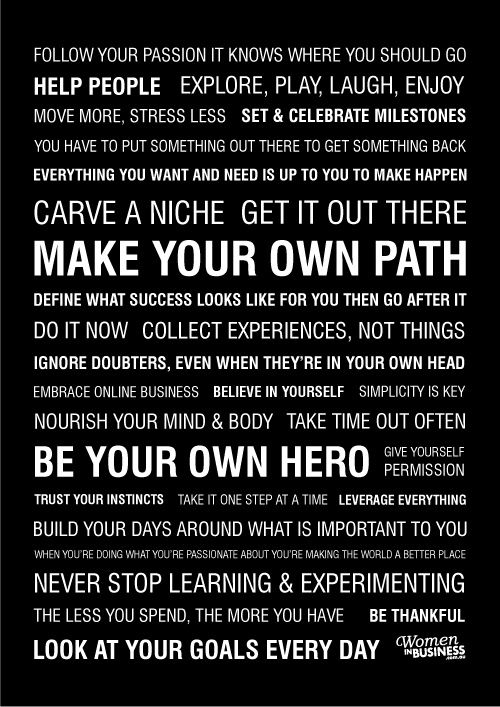 Women in Business Manifesto...