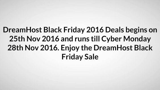 DreamHost Black Friday 2016 – 80% Off+ FREE Domain