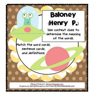 Pitner's Potpourri: Baloney -- Context Clues -- Freebie