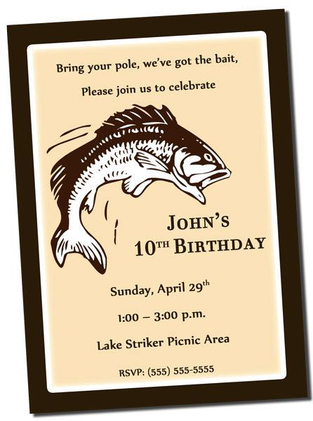 Fishing birthday party invitation printable by khudd on for Fishing birthday invitations