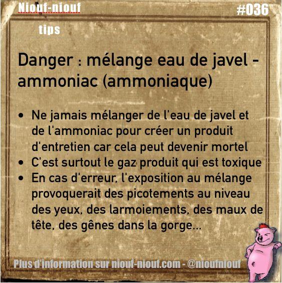 Tips niouf niouf les dangers de m langer eau de javel et for Nettoyage mur exterieur eau de javel