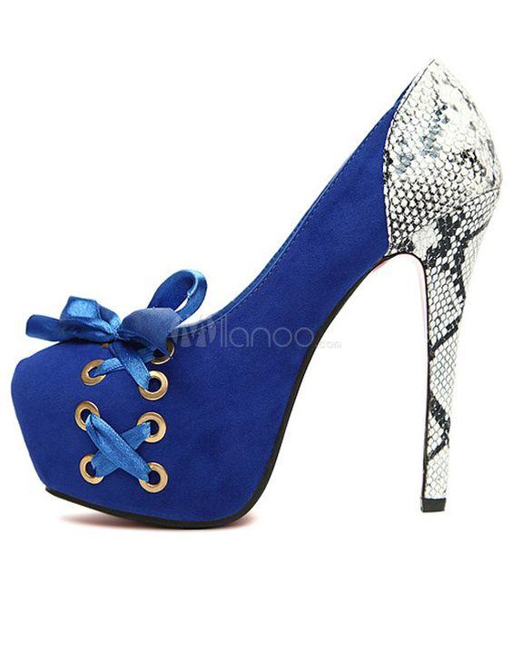 attraktive high heels aus frottierstoff mit schn ren und. Black Bedroom Furniture Sets. Home Design Ideas