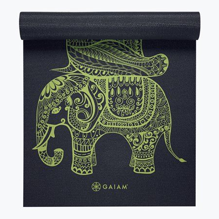 Gaiam Premium Print Yoga Mat, Lily Shadows, 6mm