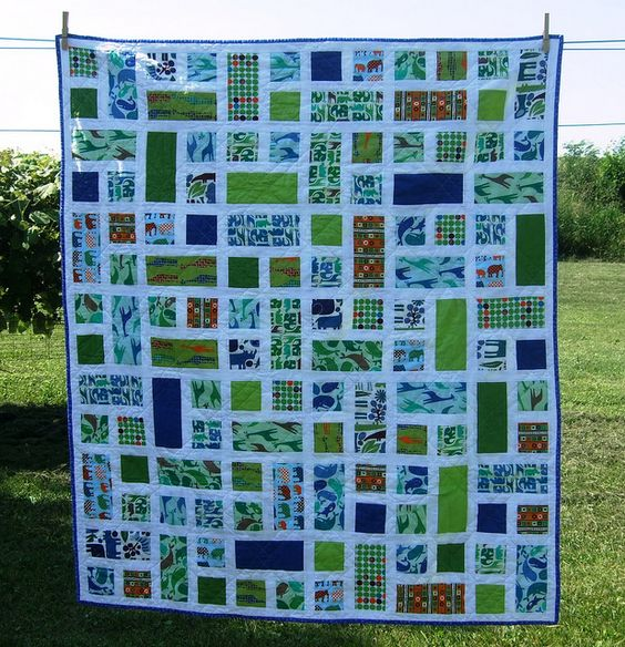 Quilt Patterns Squares And Rectangles : Nice, Quilt and Colors on Pinterest