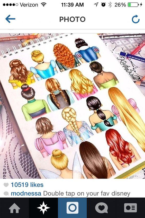 16 different disney hair designs