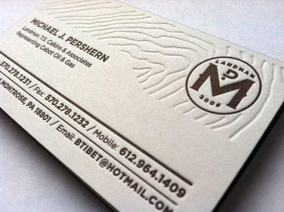 Landman Business Card by Brandon Pershern, via Behance