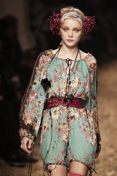 Flower Maiden Fantasy - beautiful eclectic chic; floral fashion // Jean Paul Gaultier