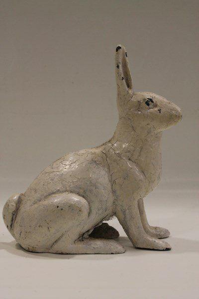 Vintage Cast Iron Hubley Rabbit Doorstop