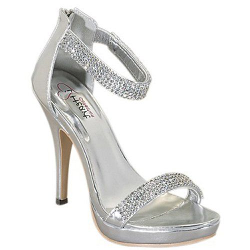 I HEART COLLECTION JEWEL-04 Women's Sparkling Ankle-strap Diamond ...
