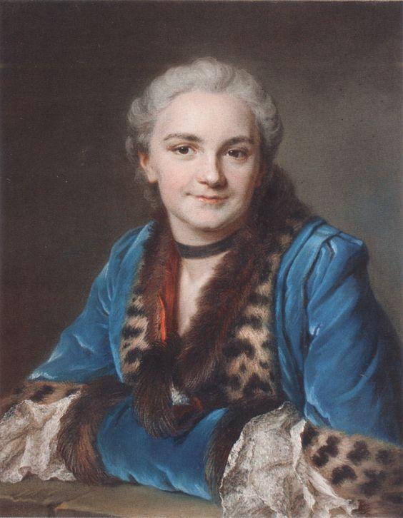 Maurice Quentin de La Tour - Ritratto di Madame de La Fontaine Solaire de La Boissière