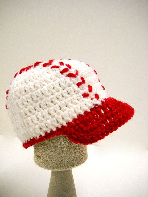 Crochet Baby Hat, New Baby Baseball Cap, Pick Your Color ...