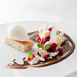 ... ice cream chocolate pudding puddings raspberries almonds coconut ice