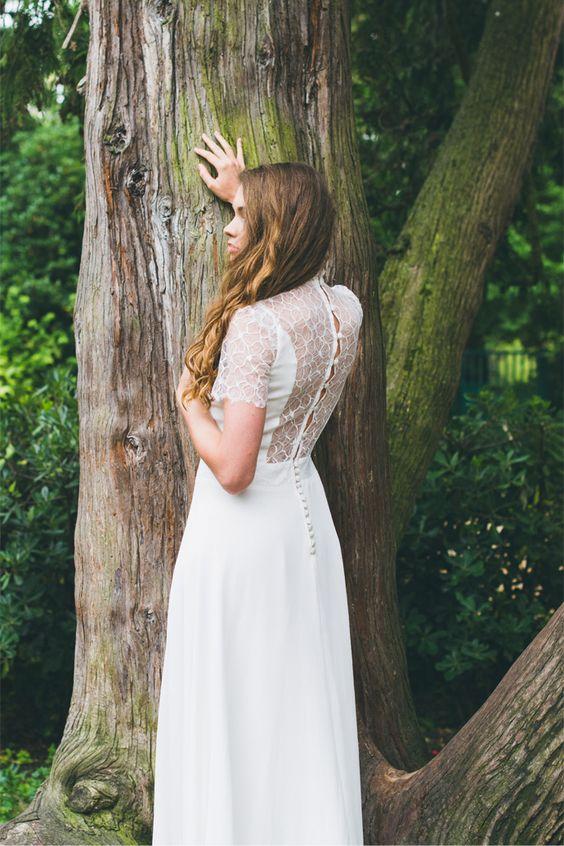 Robes de mariée d'Adeline Bauwin - Collection 2016 | Modèle: L'Amoureuse | Crédits: Cécile B.Photographies | Donne-moi ta main - Blog mariage