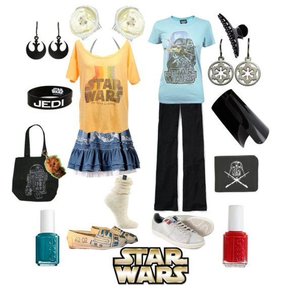 so much star wars in two outfits!