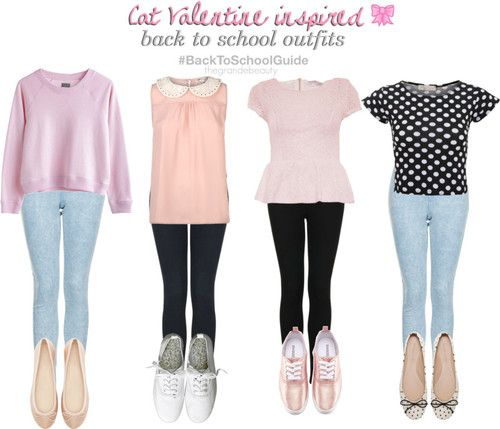 Ariana Grande/Cat Valentine Inspired Outfits for School! ^__^