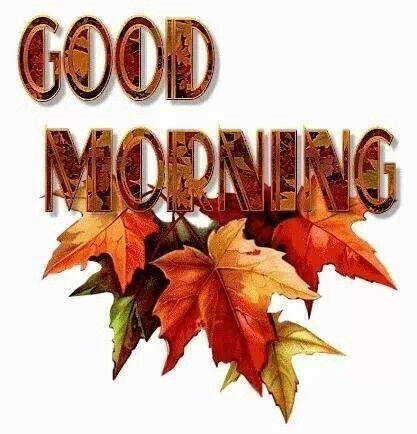 Good morning fall:
