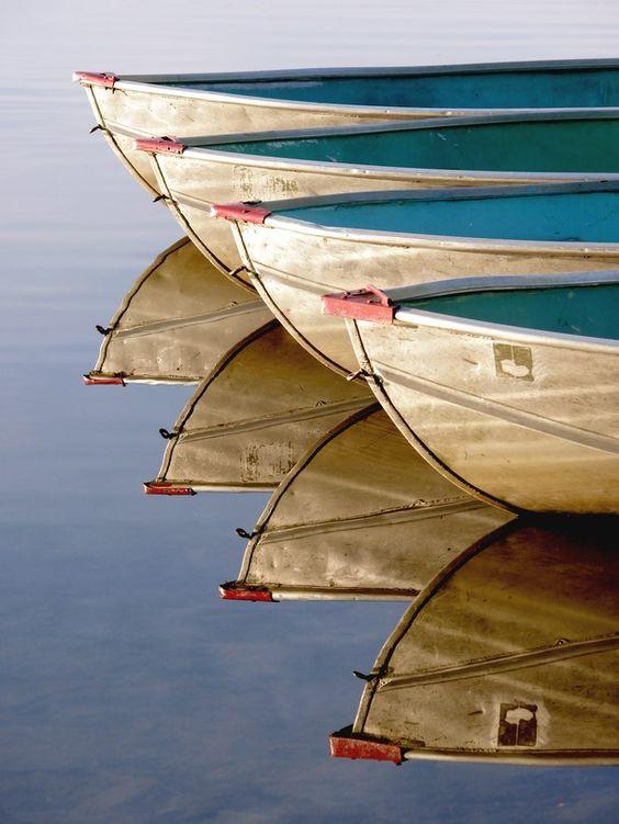 Boats at Grafton Lakes State Park
