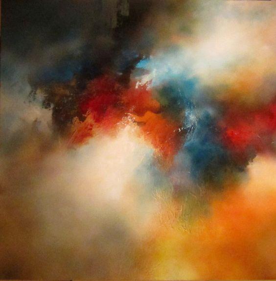 Absolutely beautiful. Nebulas of paint. Simon Kenny paintings.