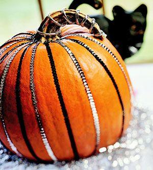 Sequin Striped Pumpkin