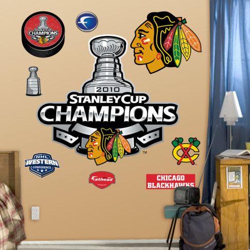 $89.99 Chicago Blackhawks 2010 Champions Logo Wall Decal