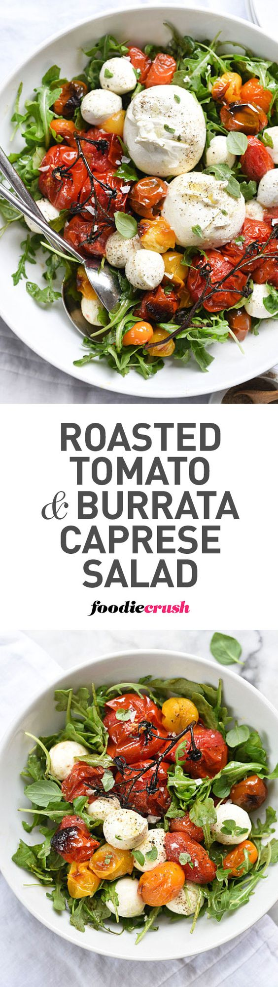 Roasted tomatoes make this caprese salad a favorite all year long ...