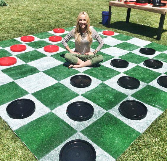 DIY Lawn Checkers!   #jessiejane #diy #game: