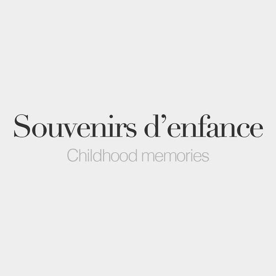 Souvenirs D Enfance Masculine Word Childhood Memories Su Və Niʁ Dɑ Fɑs Phrases En Anglais Apprendre L Anglais Phrases En Francais